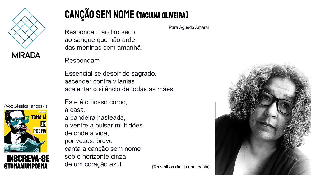 Poema de Taciana Oliveira
