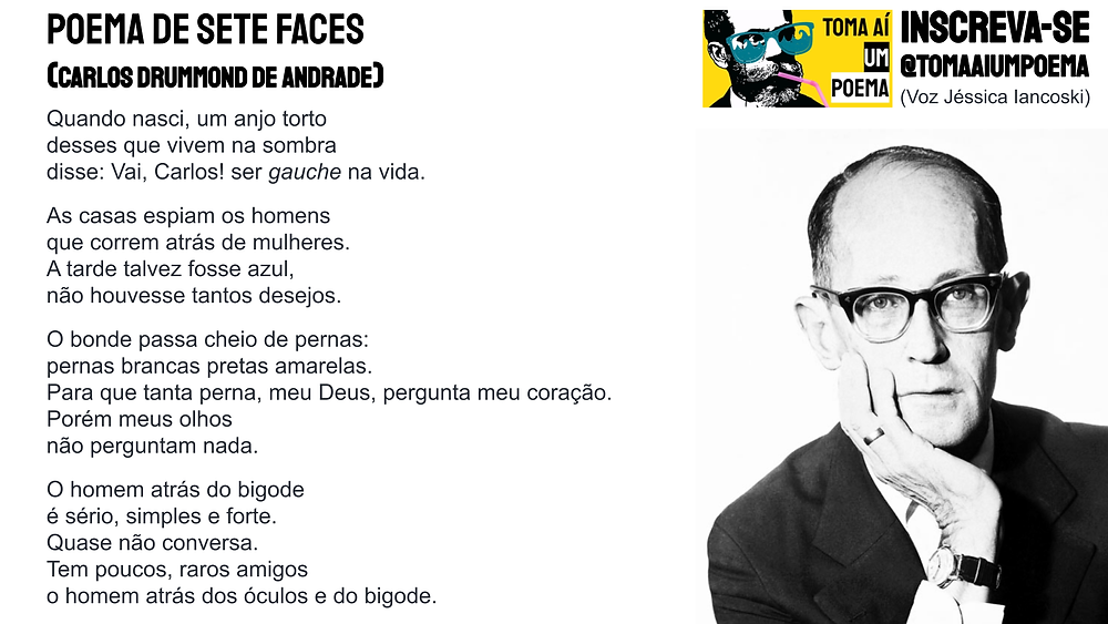 poema de sete faces carlos drummond de andrade
