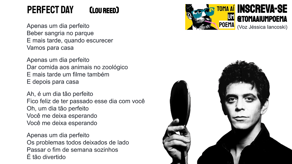 perfect day lou reed letra