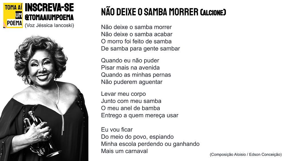 nao deixe o samba morrer letra
