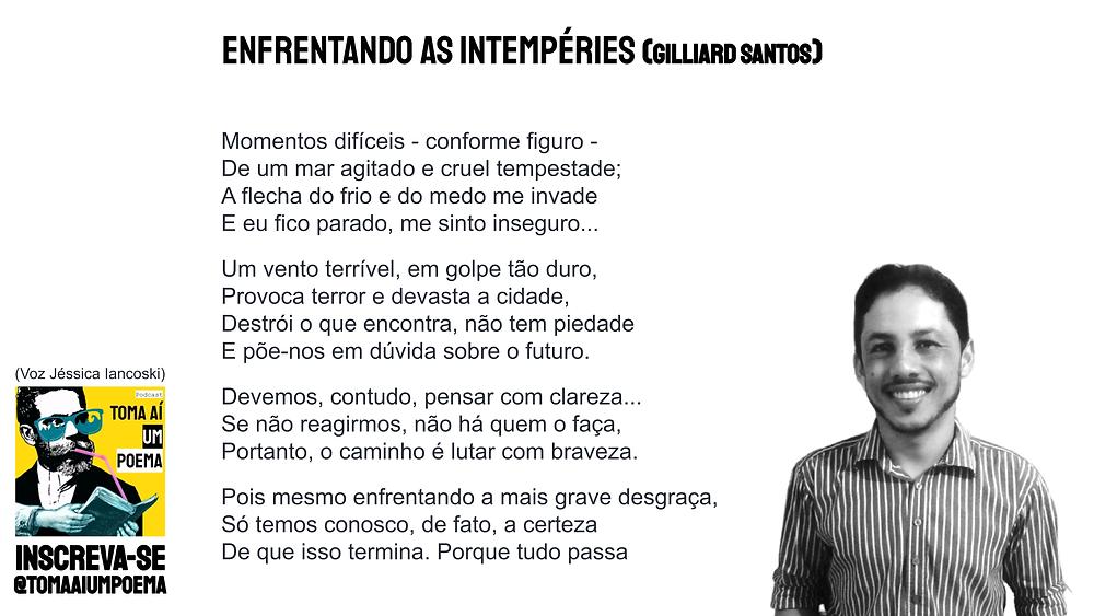 poema de gilliard santos enfrentando as intempéries