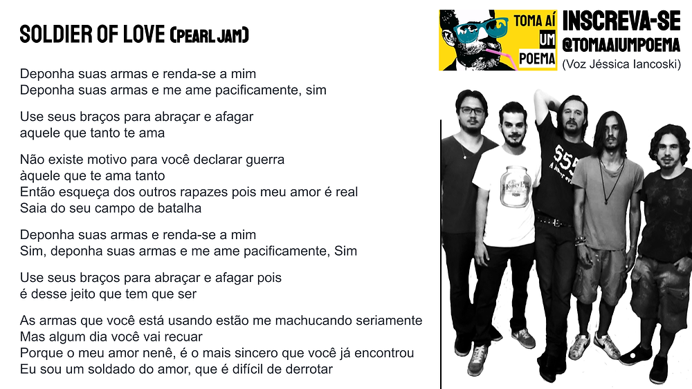 soldier of love letra pearl jam