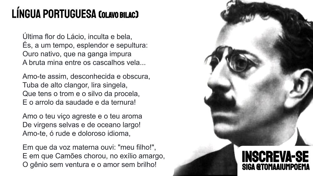Olavo Bilac Lingua Portuguesa