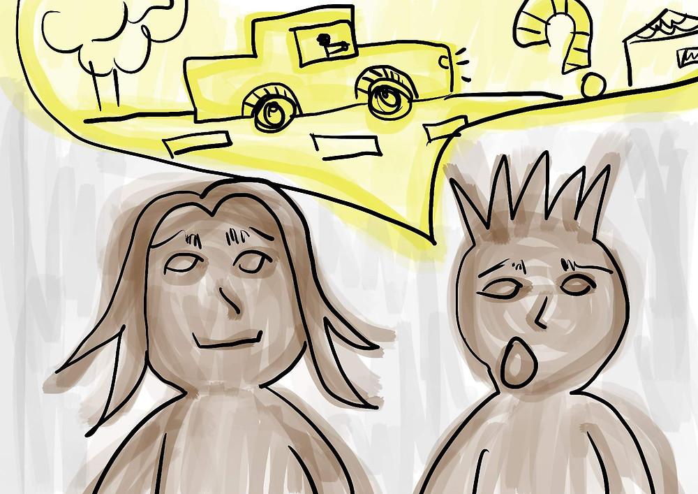 Conversando sobre viagem ilustração