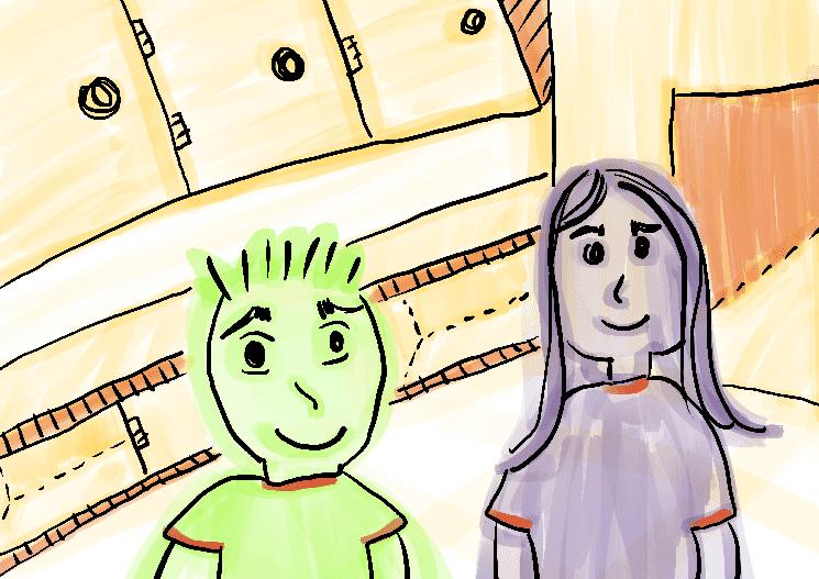 menino e menina ilustração infantil