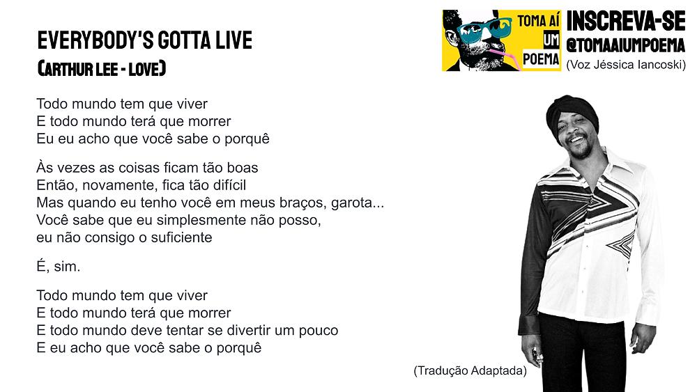 Arthur lee everybodys gotta live letra