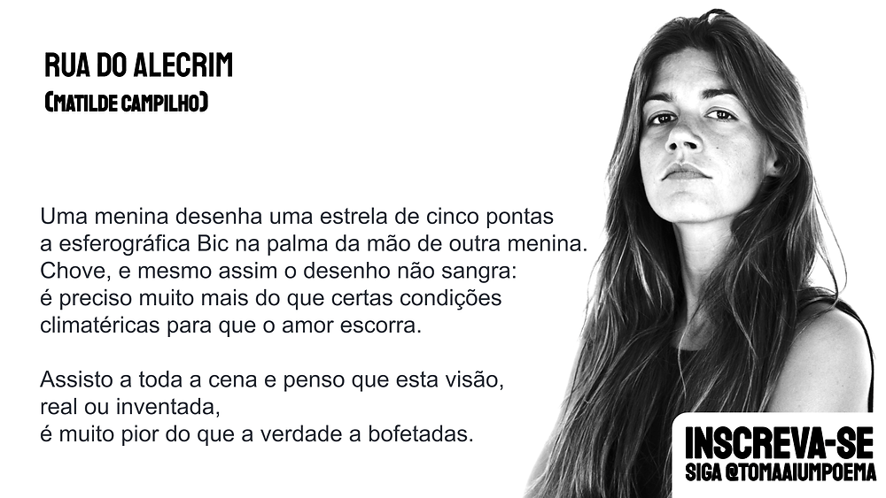Matilde Campilho poema rua do alecrim