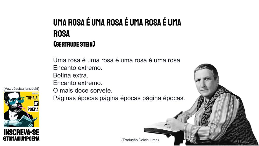 uma rosa é uma rosa é uma rosa gertrude stein