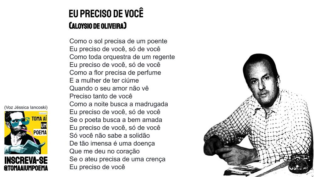 Aloysio de Oliveira Eu Preciso de Você