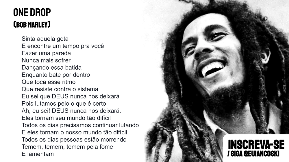 one drop bob marley letra