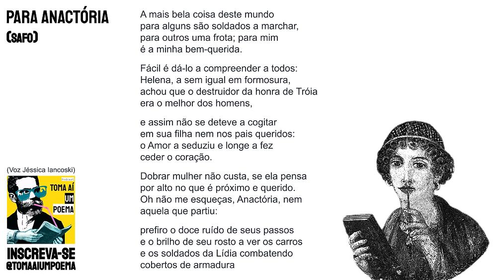 poema de safo de lesbos para anactória