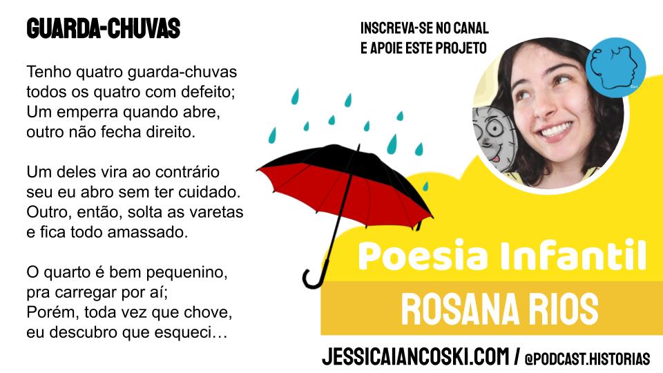 rosana Rios guarda chuvas criança poesia