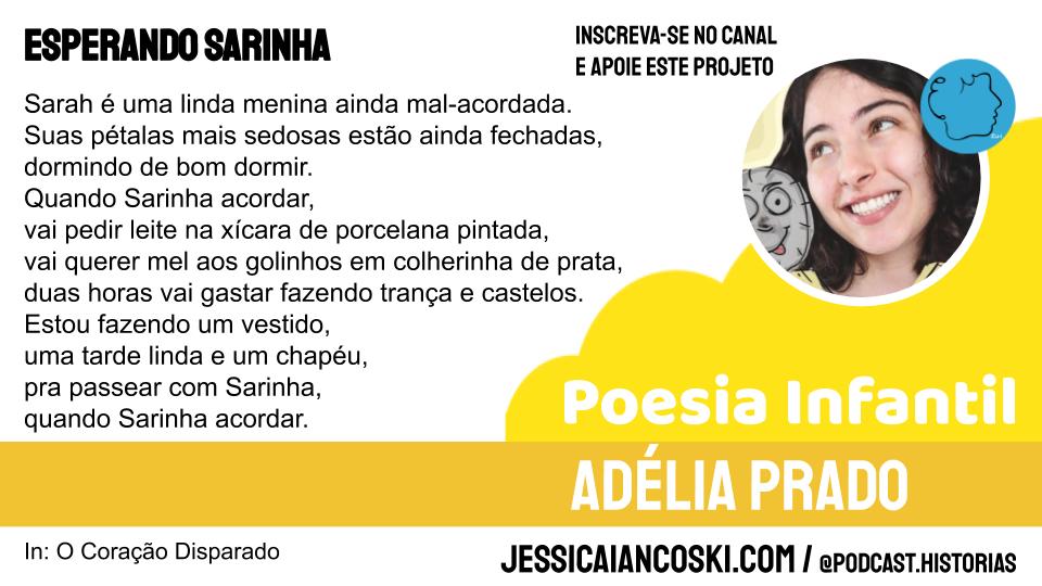 Esperando Sarinha Adélia Prado poema