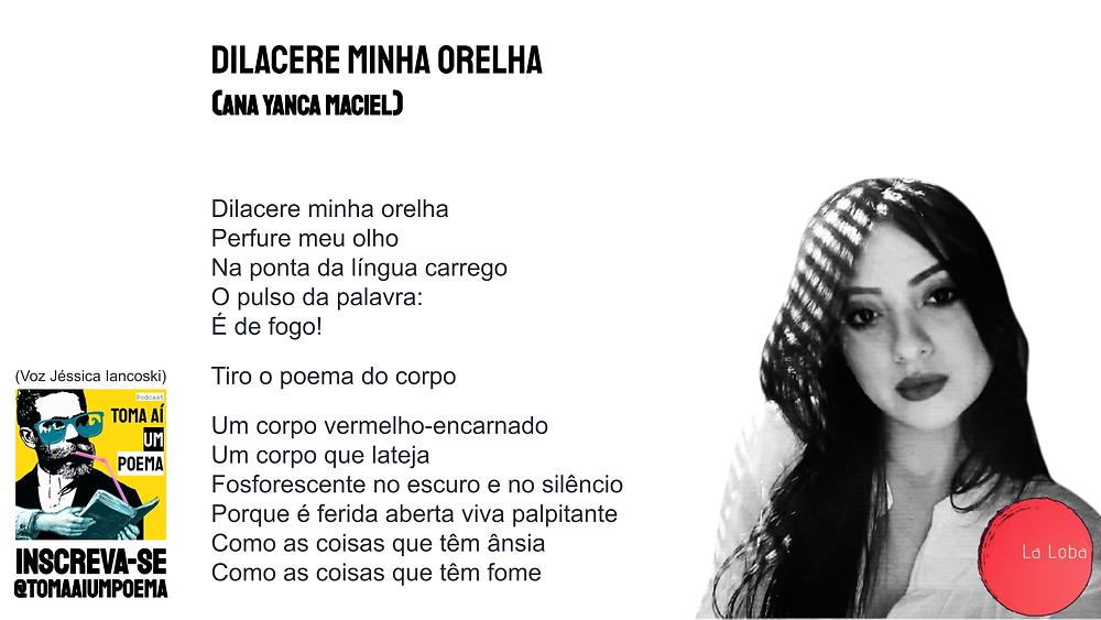 Ana Yanca Maciel poema dilacere minha orelha