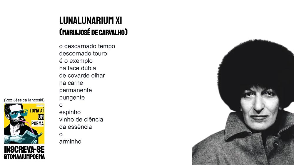 poema de mariajose de carvalho lunalunarium XI