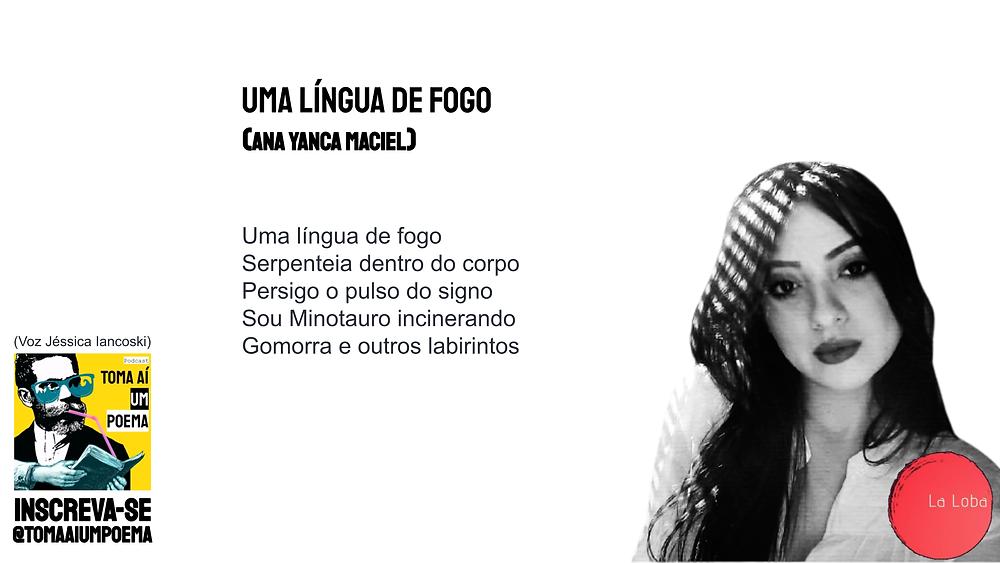 Ana Yanca Maciel poema uma língua de fogo