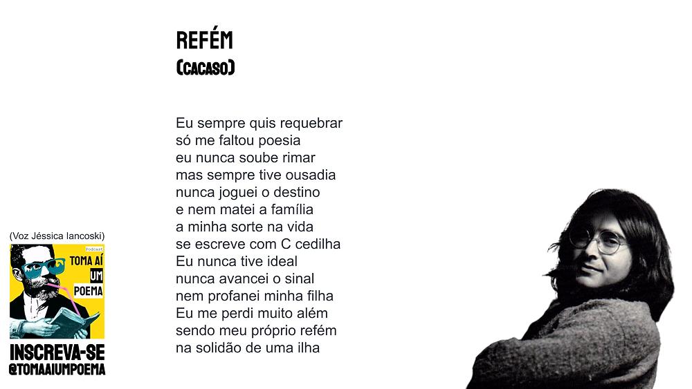 poesia brasileira cacaso refem