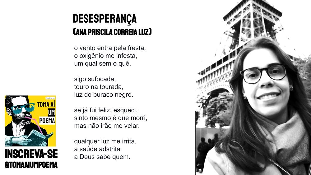 Ana Priscila poema desesperança