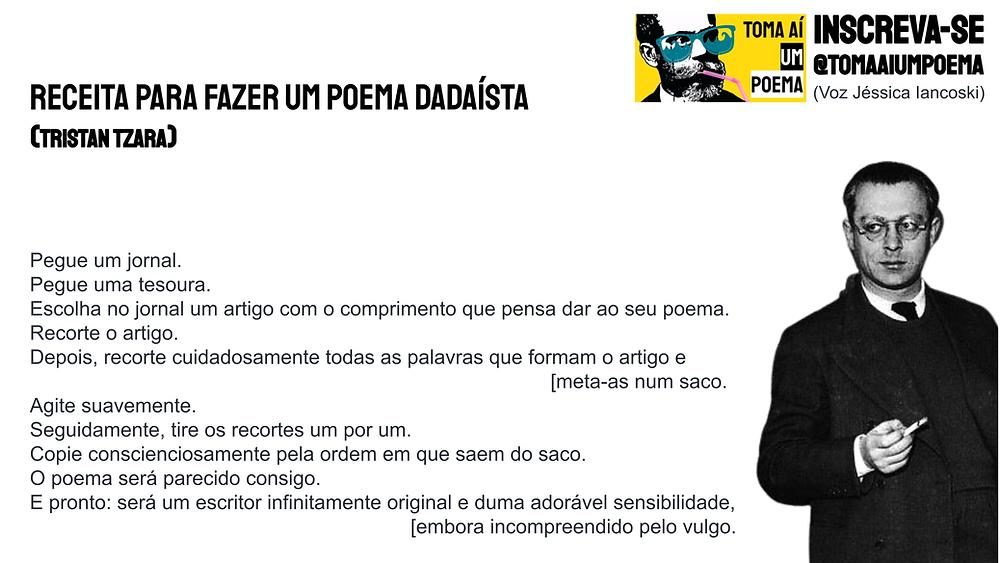 Poema de Tristan Tzara Receita para Fazer Um Poema Dadaísta