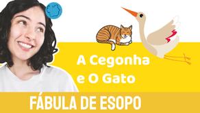 O Gato e A Cegonha - Jéssica Iancoski | Fábula de Esopo