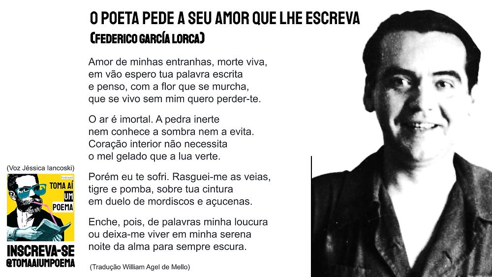 o poeta pede a seu amor que lhe escreva poema