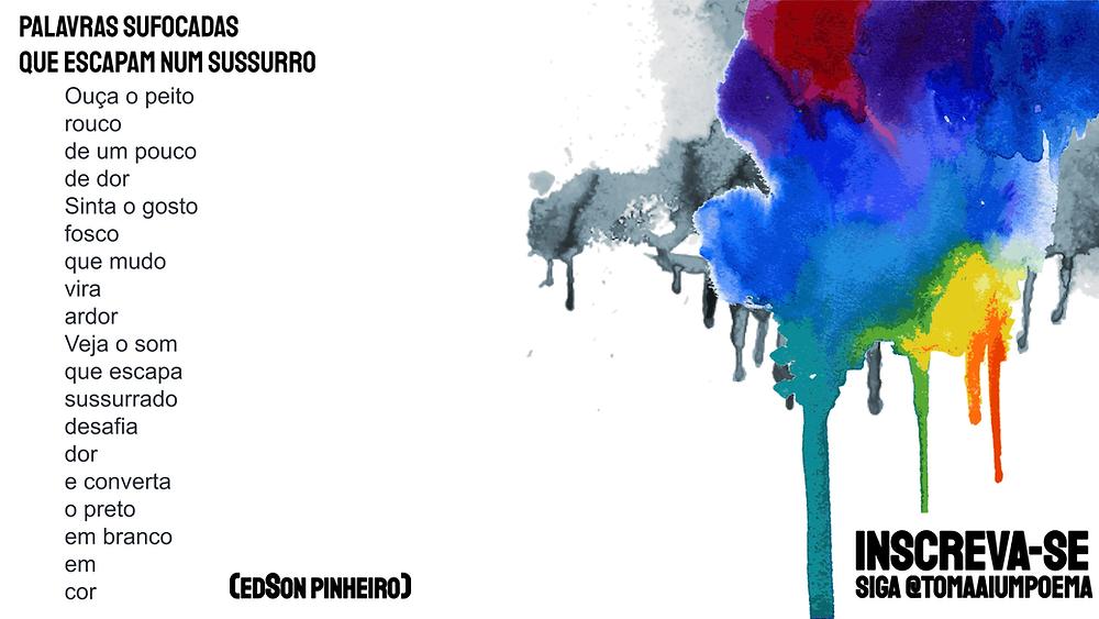 Edson Pinheiro poeta palavras sufocadas