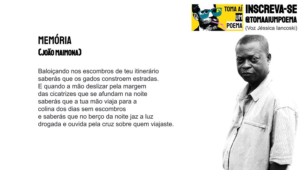 Joao Maimona memória poemas