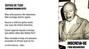 poesia brasileira frases cassiano ricardo leite