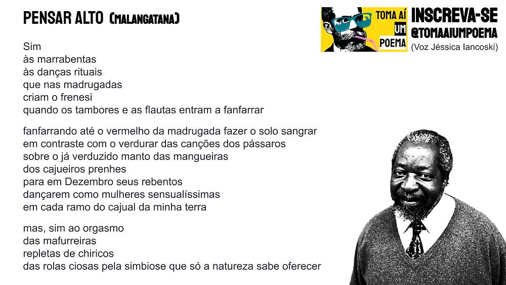 Poema de Malangatana pensar alto