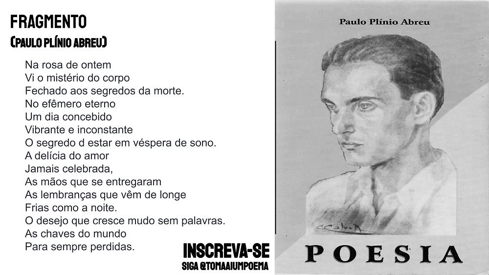Paulo Plinio abreu poesia fragmento