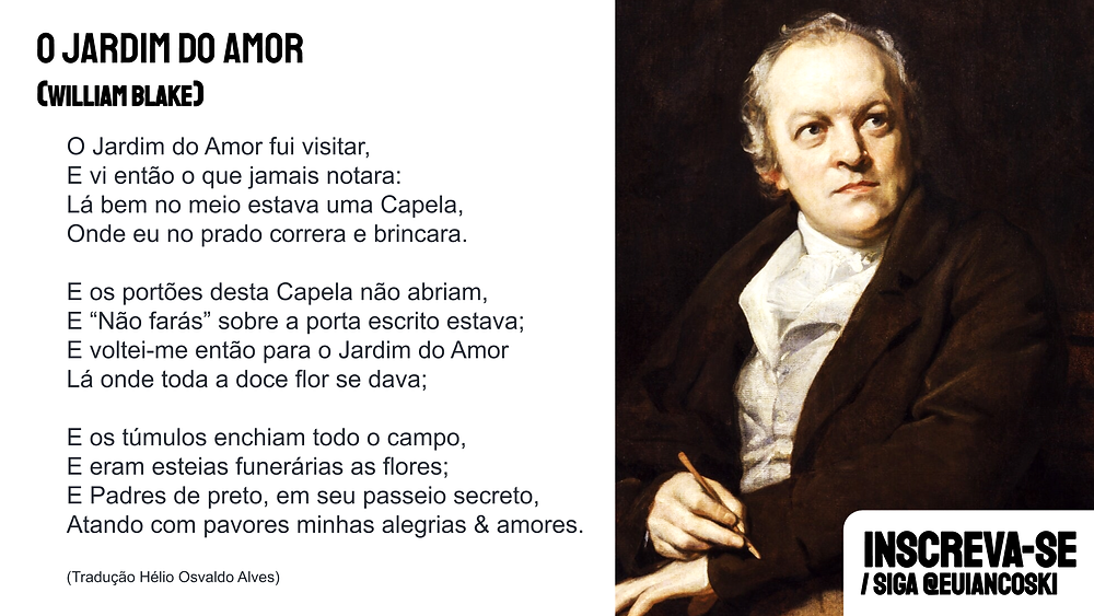 william blake poesia o jardim do amor