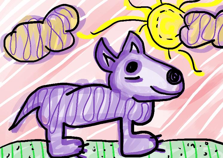 lobo ilustração infantil