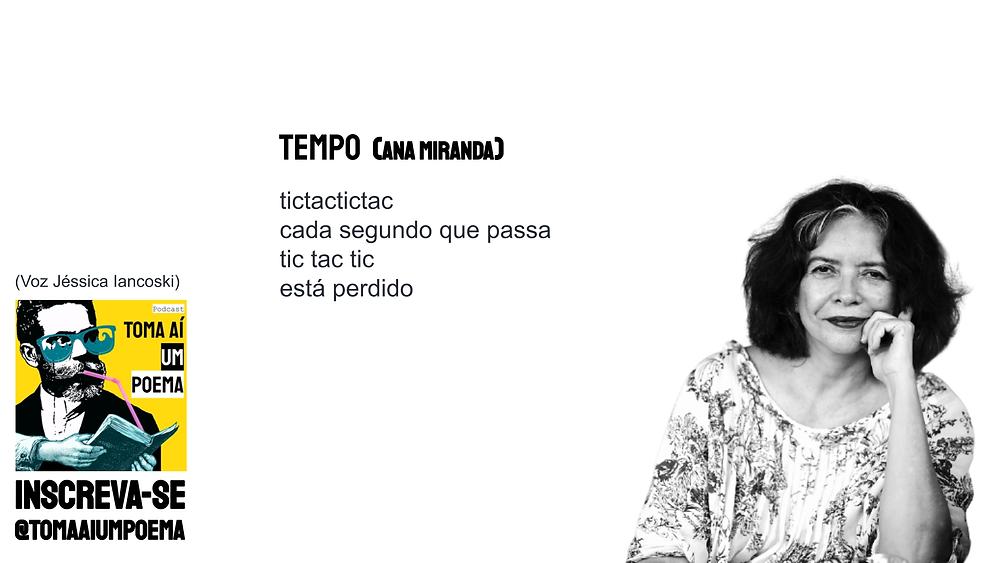 Poema de Ana Miranda Tempo