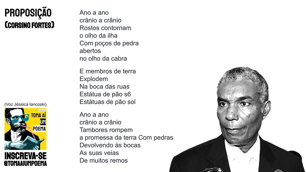 Poema de Corsino Fortes proposição