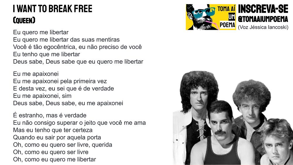 queen i want break free letra