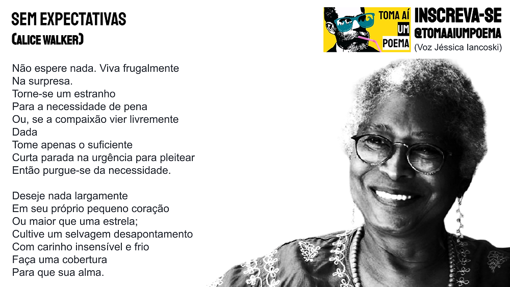 Poema de Alice Walker Sem Expectativas