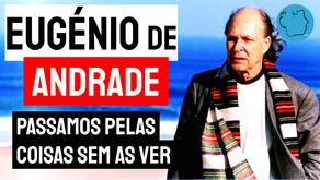 Eugénio de Andrade - Poema Passamos Pelas Coisas Sem As Ver   Poesia Portuguesa