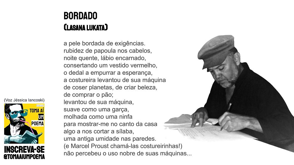 Poema de Lasana Lukata Bordado