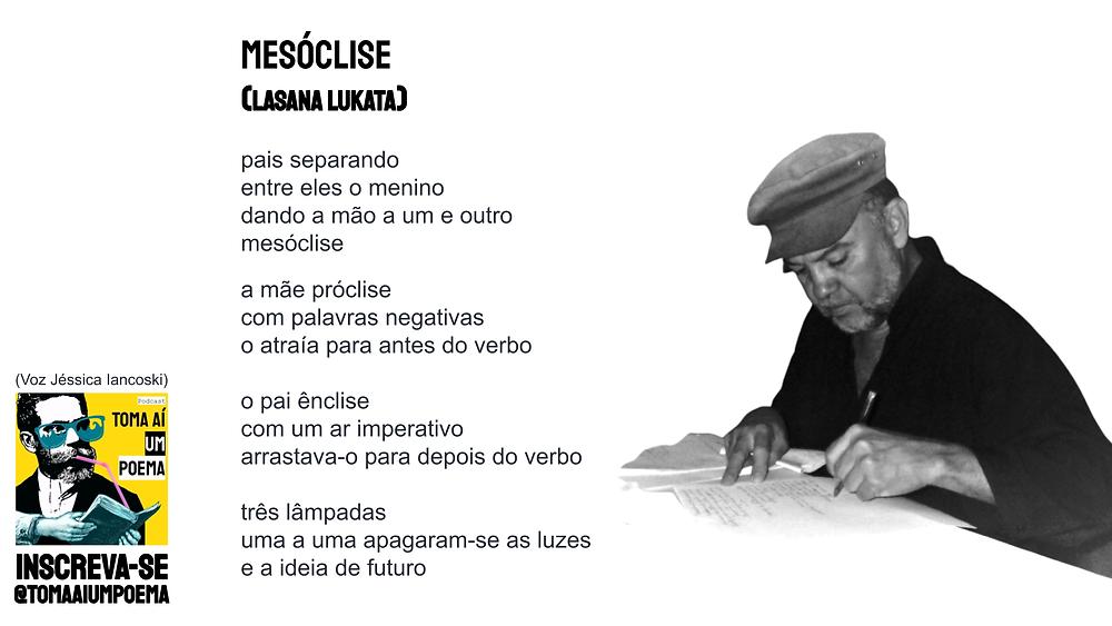 poema de Lasana Lukata mesóclise