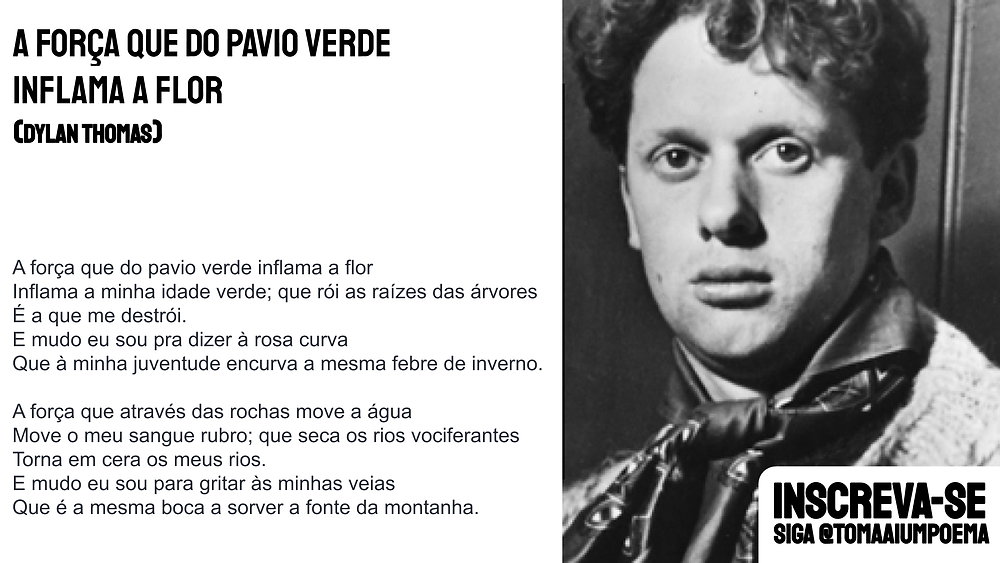 Dylan Thomas poema a forca que do pavio