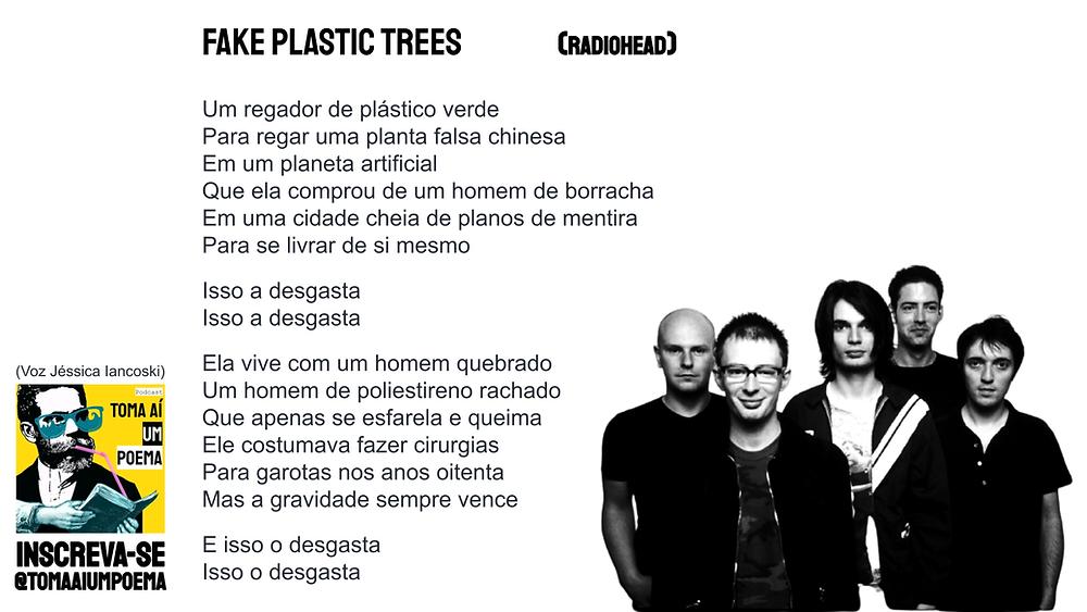 fake plastic trees radiohead letra