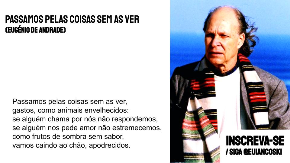 poesia portuguesa passamos pelas coisas sem as ver