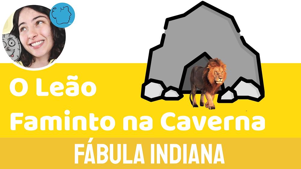 fábula infantil o leão faminto na caverna