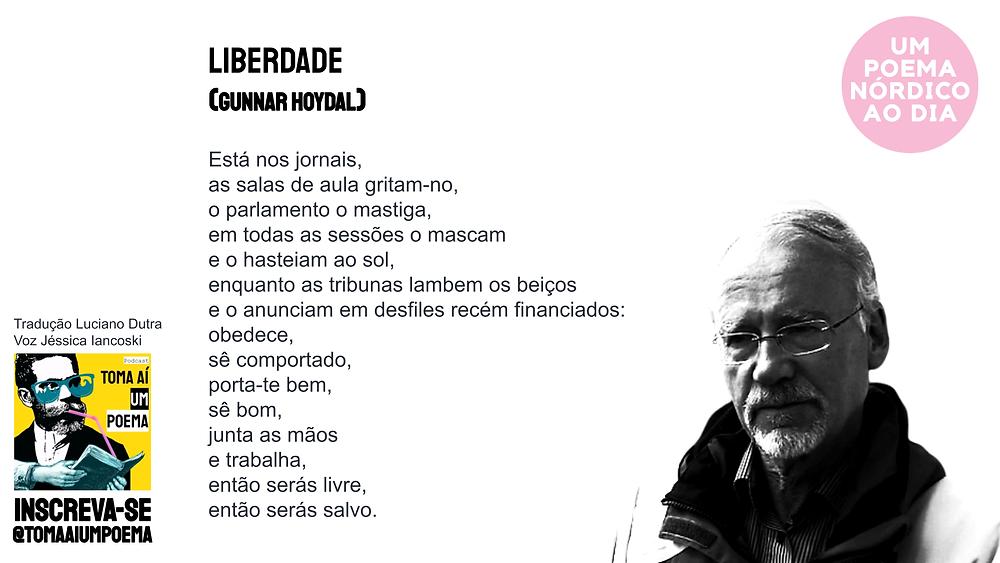 Gunnar Hoydal poema Liberdade