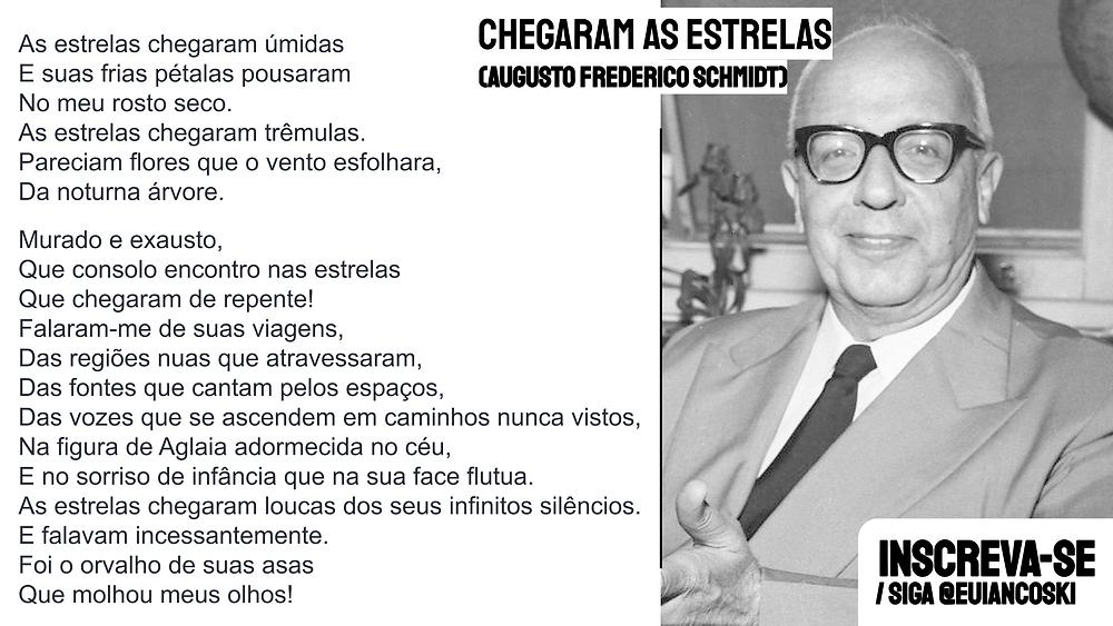 poesia brasileira augusto frederico schmidt