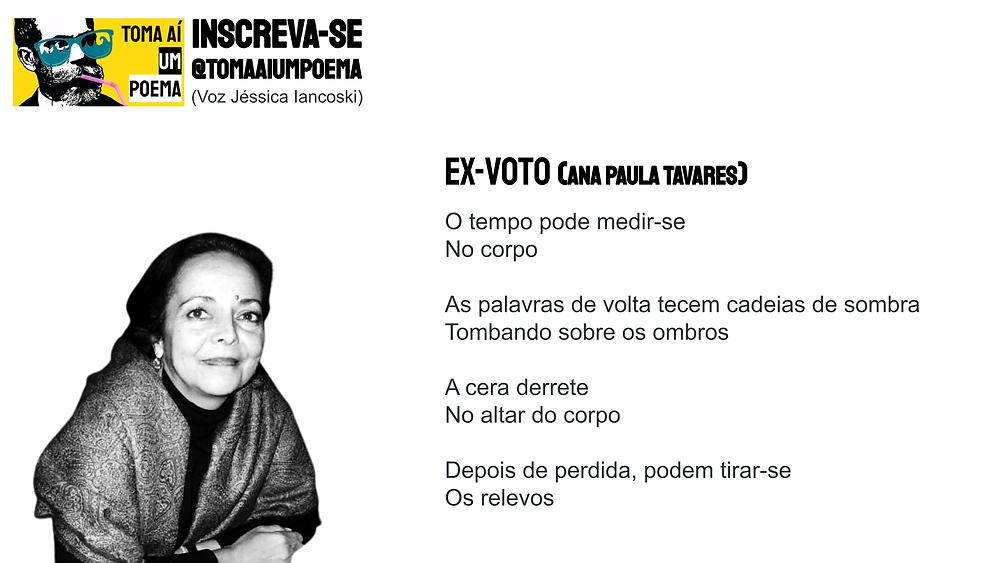 poema de ana paula tavares ex-voto