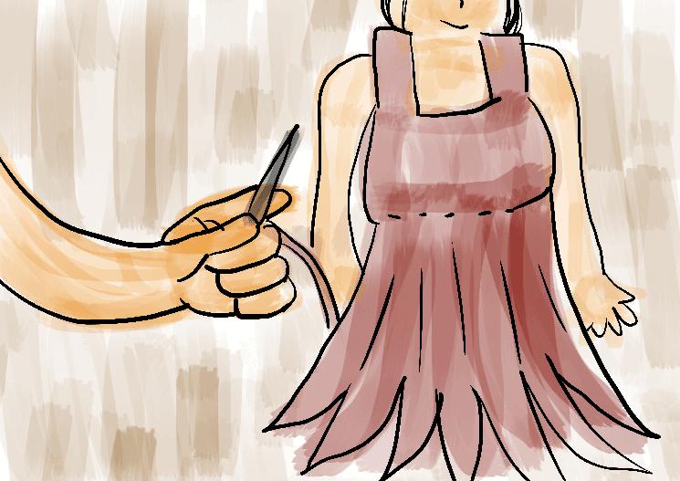 agulha linha vestido costurar desenho
