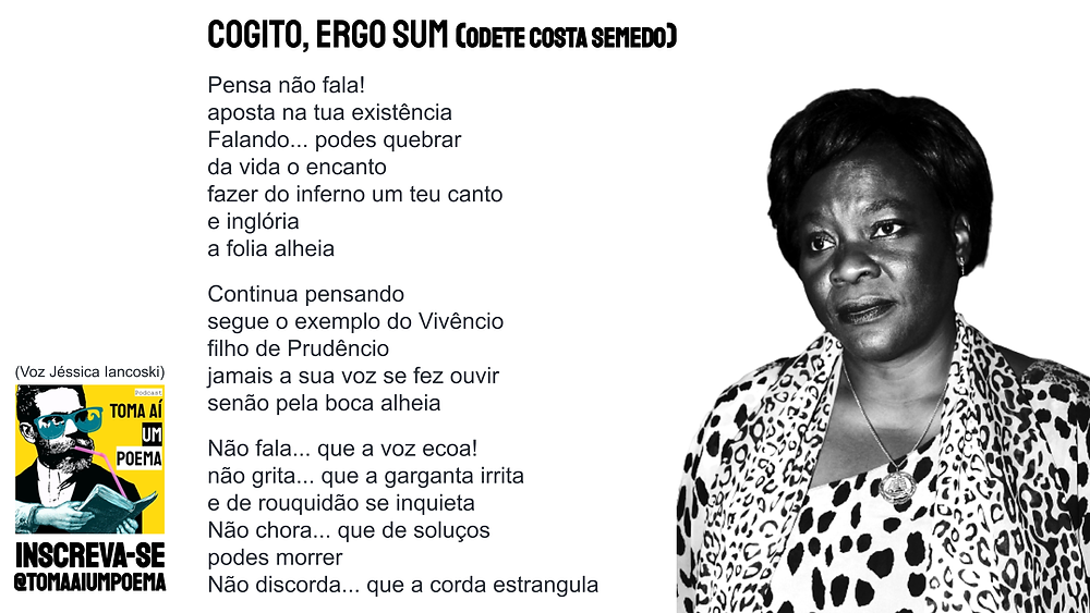 Poema de Odete Costa semedo cogito ergo sum