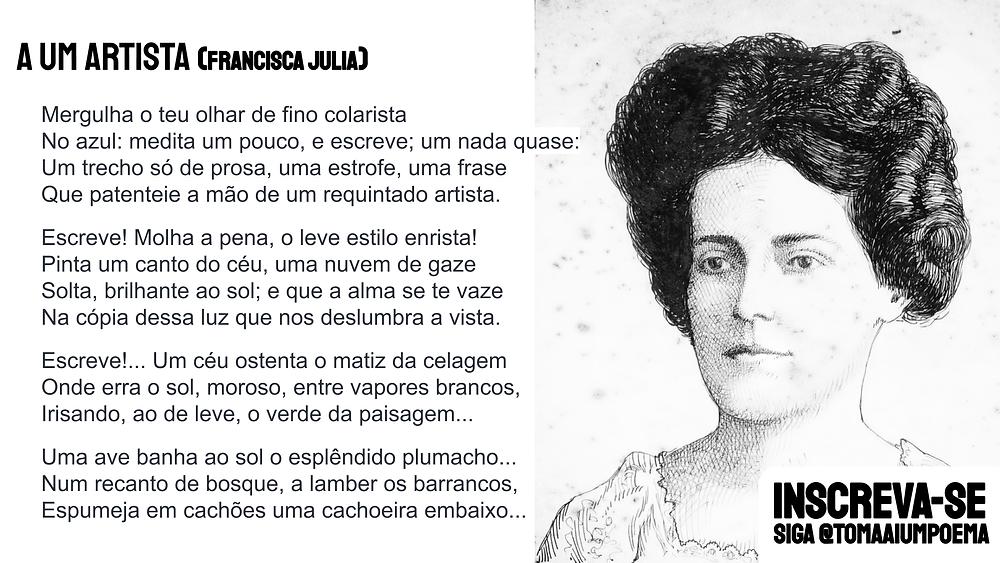 Francisca julia poema a um artista