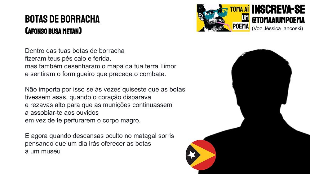 Poema de Afonso Busa Metan Botas De Borracha
